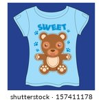 sweet bear t shirt | Shutterstock .eps vector #157411178