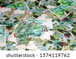 israeli new shekel banknotes... | Shutterstock . vector #1574119762