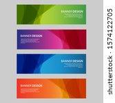 vector abstract design banner... | Shutterstock .eps vector #1574122705