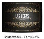 vintage touristic greeting card ... | Shutterstock .eps vector #157413242
