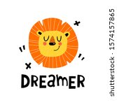 Dreamer. Cute Lion With...