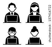 programmer icons set | Shutterstock .eps vector #157416722