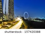 singapore  august 21  night... | Shutterstock . vector #157420388