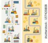 industrial factory buildings...   Shutterstock .eps vector #157420808