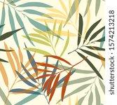 seamless pattern. flower print... | Shutterstock .eps vector #1574213218