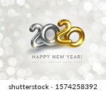 happy new 2020 year greeting... | Shutterstock .eps vector #1574258392