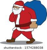 illustration of santa claus... | Shutterstock .eps vector #1574288038