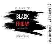 brush sale banner vector...   Shutterstock .eps vector #1574309842