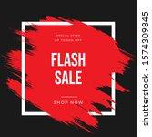 brush sale banner vector...   Shutterstock .eps vector #1574309845