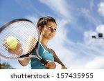 playing tennis | Shutterstock . vector #157435955