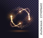 orange flash  glowing rings ... | Shutterstock .eps vector #1574396632