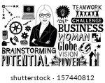 business doodles   Shutterstock . vector #157440812