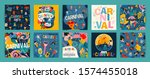 hello carnival. vector set of... | Shutterstock .eps vector #1574455018