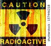 radioactive background   grunge ... | Shutterstock . vector #157446218