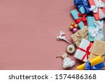 christmas card gifts decor for...   Shutterstock . vector #1574486368