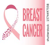 breast cancer poster with a... | Shutterstock .eps vector #1574497558