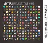 vector color pixel art style...