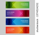 vector abstract design banner... | Shutterstock .eps vector #1574524252