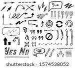 abstract hand drawn arrows ... | Shutterstock .eps vector #1574538052