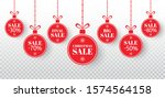 christmas sale label set. red... | Shutterstock .eps vector #1574564158