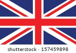 vector image of british flag | Shutterstock .eps vector #157459898