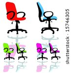 computer armchair | Shutterstock .eps vector #15746305