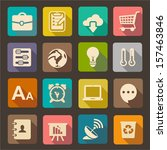 flat icons set for web and... | Shutterstock .eps vector #157463846