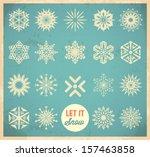 snowflake winter set. vector
