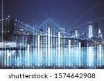 financial chart on city scape... | Shutterstock . vector #1574642908