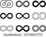 set of simple infinity icons | Shutterstock .eps vector #1574691772