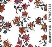 watercolor seamless pattern... | Shutterstock . vector #1574697838