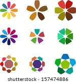 design windmill logo element.... | Shutterstock .eps vector #157474886