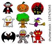 halloween character  cartoon... | Shutterstock .eps vector #157476545