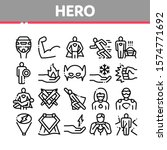 super hero collection elements... | Shutterstock .eps vector #1574771692