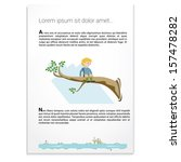 boy is sitting on a branch of... | Shutterstock .eps vector #157478282
