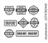 badge soldout  vector design...   Shutterstock .eps vector #1574782945