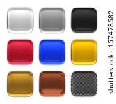 blank app icon metallic...