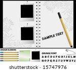 vector scrapbook   Shutterstock .eps vector #15747976