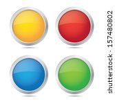 blank colorful round icons in... | Shutterstock .eps vector #157480802