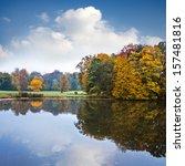 autumn landscape. park in... | Shutterstock . vector #157481816