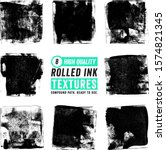 8 rolled ink square textures | Shutterstock .eps vector #1574821345