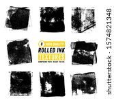 8 rolled ink square textures   Shutterstock .eps vector #1574821348