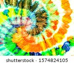 Orange Spiral Tie Dye Texture....
