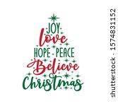 joy love hope peace believe... | Shutterstock .eps vector #1574831152