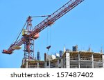 building crane and building... | Shutterstock . vector #157487402