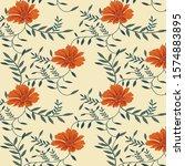 semless vector flower design... | Shutterstock .eps vector #1574883895