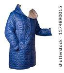 Female Blue  Coat With A Hood...