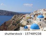 amazing santorini  oia village  ... | Shutterstock . vector #157489238