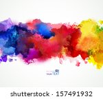 bright watercolor stains  | Shutterstock .eps vector #157491932