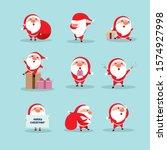 cute santa claus flat...   Shutterstock .eps vector #1574927998